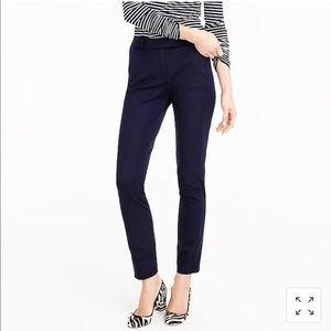 J. Crew Maddie Two Way Stretch Navy Pants Slim Fit